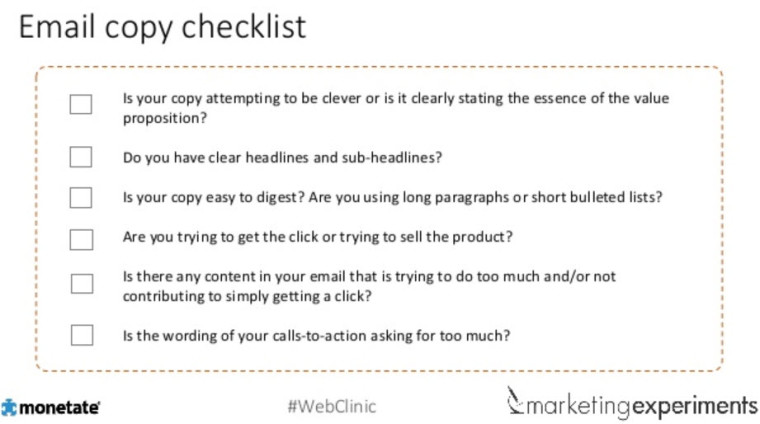 email clickthrough rate