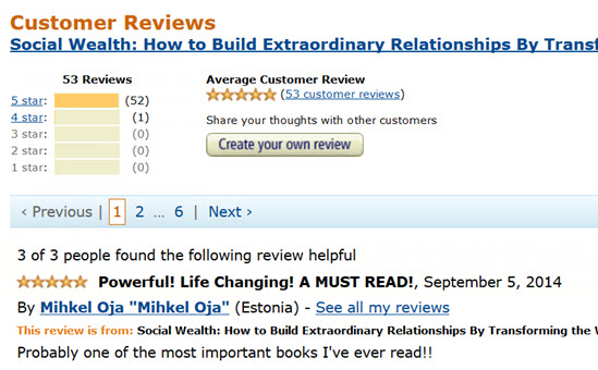 Social Wealth Amazon Kindle Stats3